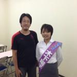 木下陽子さんとツーショット @八幡市立生涯学習センター
