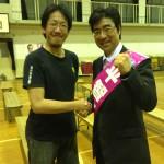 平智之さんとツーショット @伏見住吉小学校