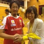 ゆうの恵さんとツーショット @御所南小学校